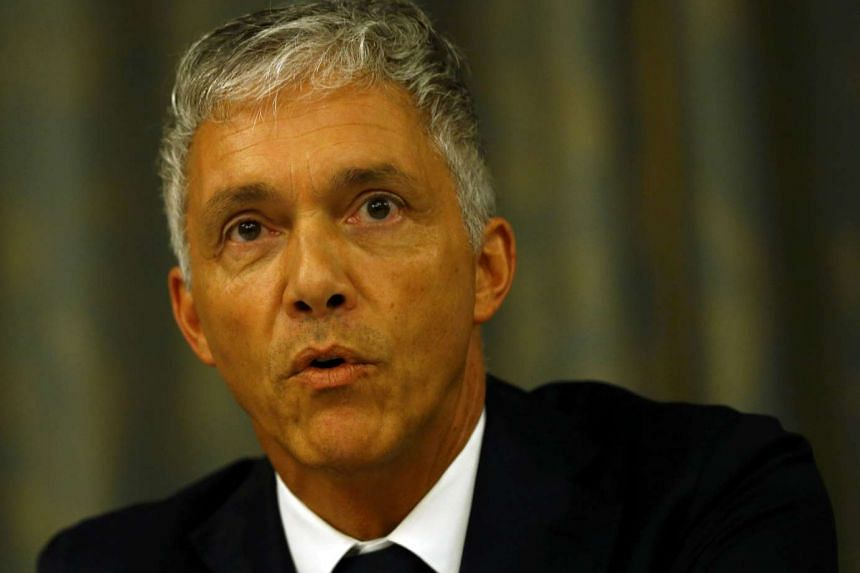 Swiss Attorney General Michael Lauber addresses a news conference in Zurich on Monday.