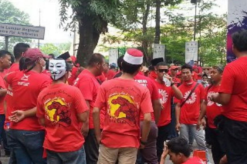 Participants gathering ahead of the rally on Wedneday (Sept 16) afternoon.