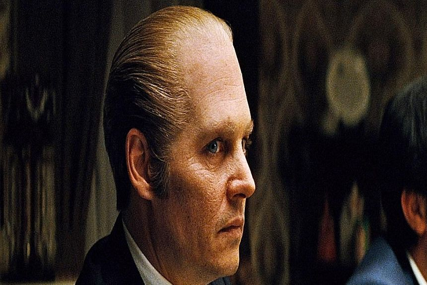 "In Black Mass, Johnny Depp (above) is notorius mobster James ""Whitey"" Bulger."