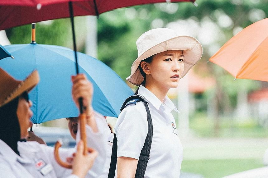 Joi Chua plays 38-year-old Fei Fei, a carpark attendant looking after a father stricken with dementia.