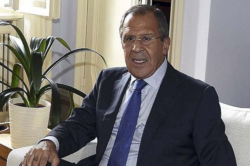 Russia's Foreign Minister Sergey Lavrov said its specialists will train Syrians to use the weaponry the country has supplied to Syria.