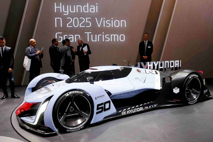 The Hyundai N50 is presented during the media day at the Frankfurt Motor Show (IAA) in Frankfurt, Germany on Sept 15, 2015.