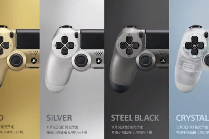 Sony releases four new colours for the Playstation 4 controller.