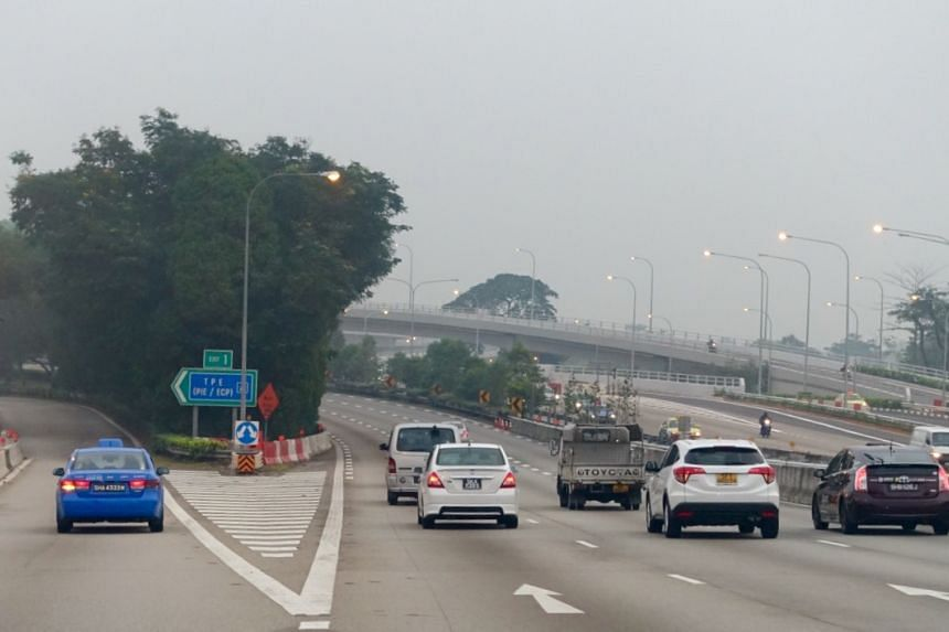 Traffic along the CTE at 7.10am on Sept 16.