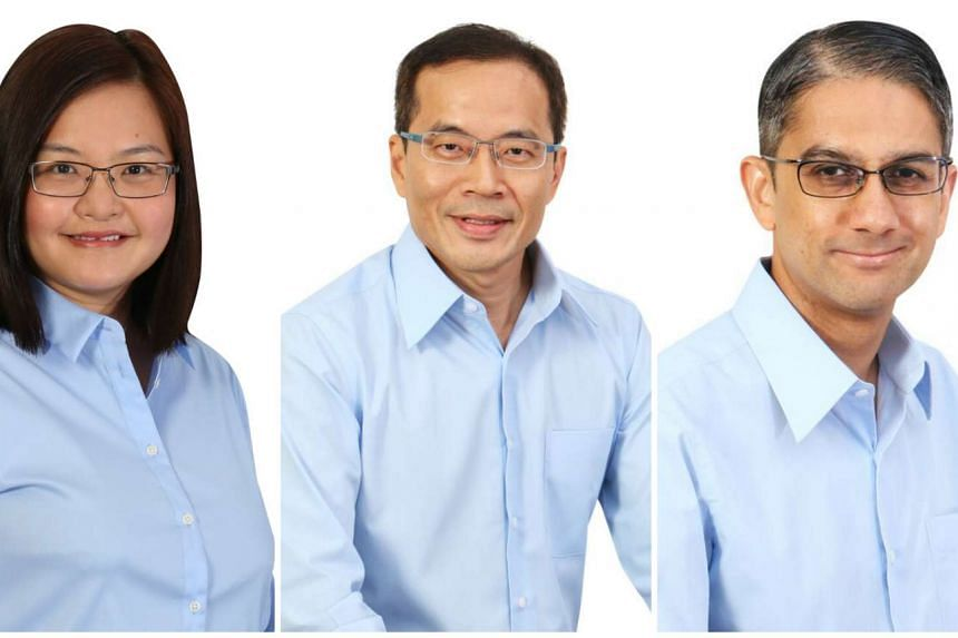 Workers' Party candidates (from left) Lee Li Lian, Dennis Tan and Leon Perera have been declared NCMPs.