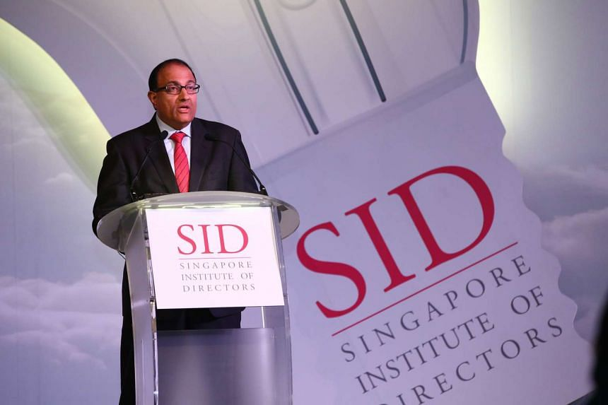 Second Minister for Trade and Industry and Home Affairs S. Iswaran speaking at the annual SID Directors' Conference at the Marina Bay Sands Expo and Convention Centre on Sept 16, 2015.