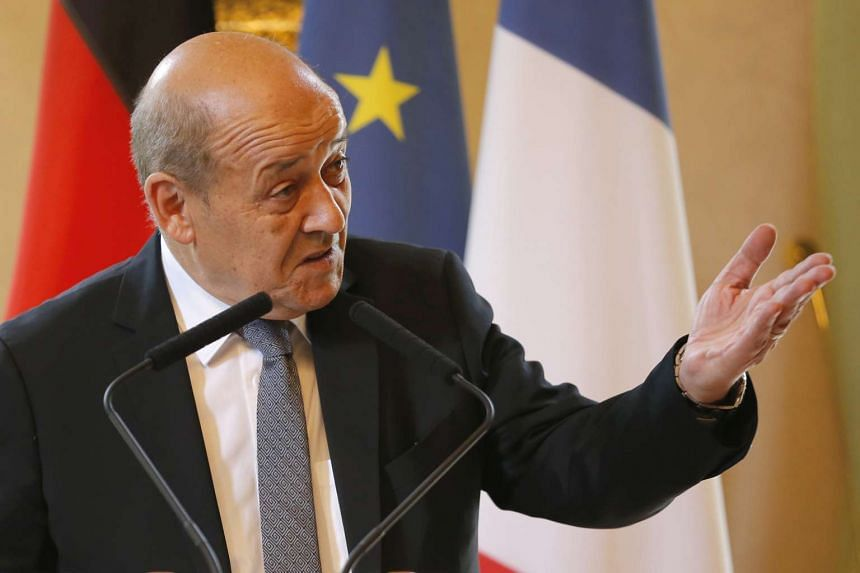 French Defence Minister Jean-Yves Le Drian at the French Defence Ministry in this July 29, 2015 file photo.