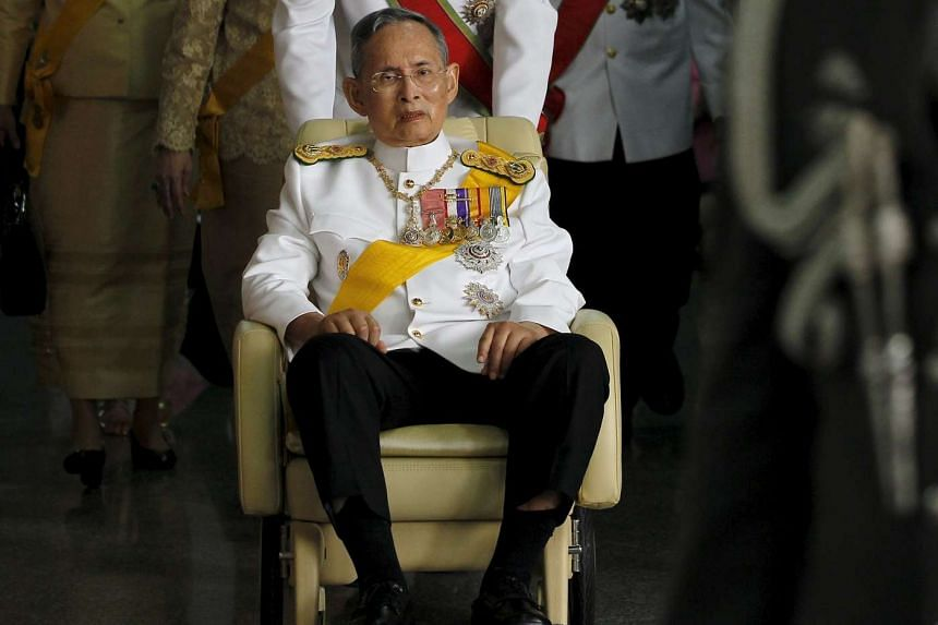 King Bhumibol has been in Bangkok's Siriraj hospital for more than three months and had been treated for water on the brain. He was suffering at the weekend from a blood infection and lung inflammation.