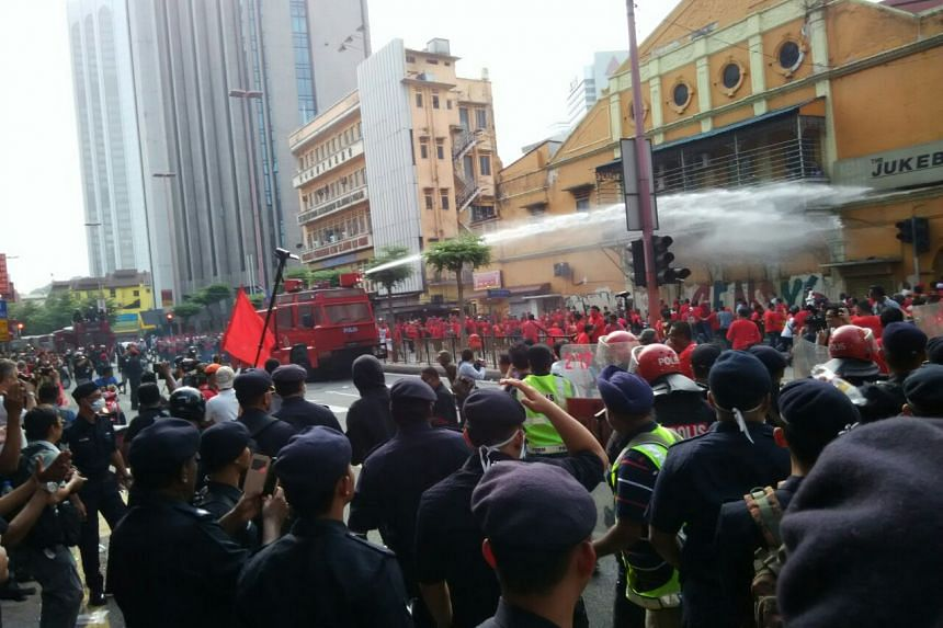 The rally is meant to counter last month's huge demonstration by electoral reform group Bersih.