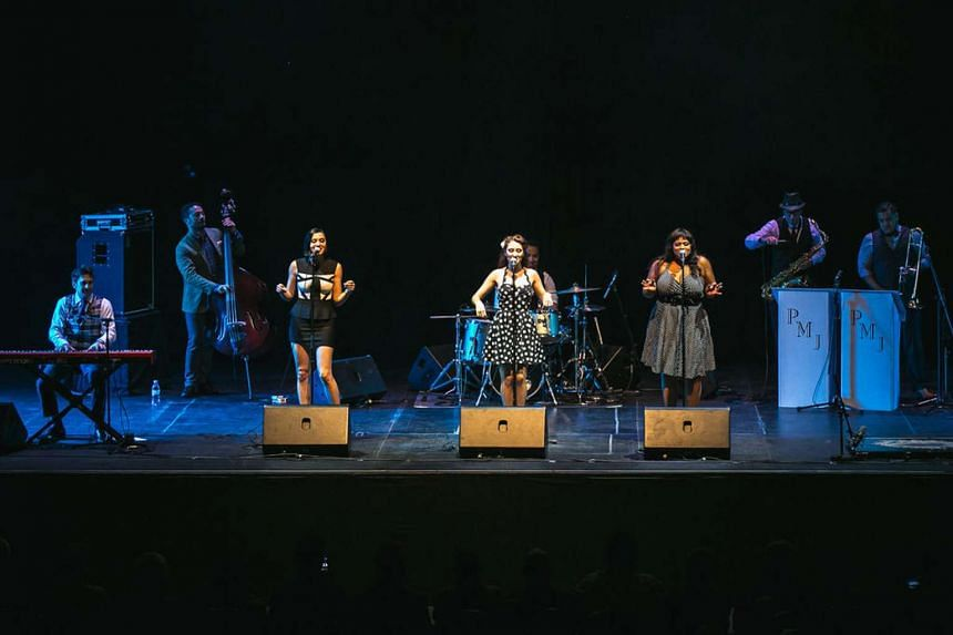 Postmodern Jukebox performing at the Kallang Theatre on Sunday.