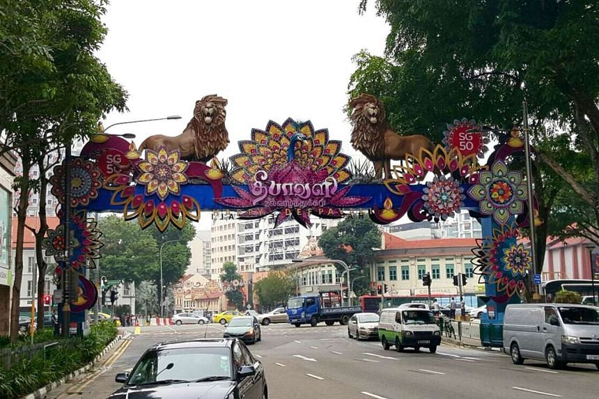 Four giant lion sculptures - a tribute to the city's ancient Singapura name - have taken their positions in Serangoon Road.