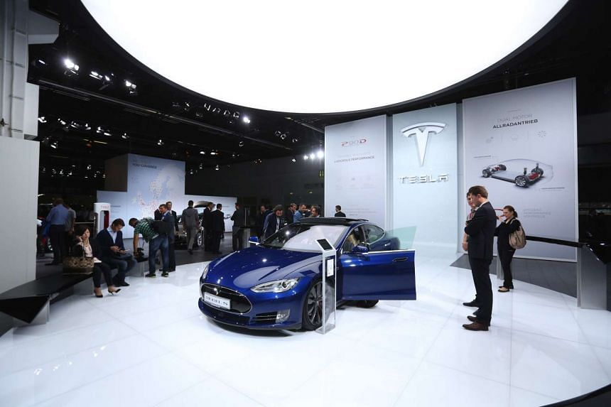 A China start-up is developing an electric car to rival the Tesla Model S (above).