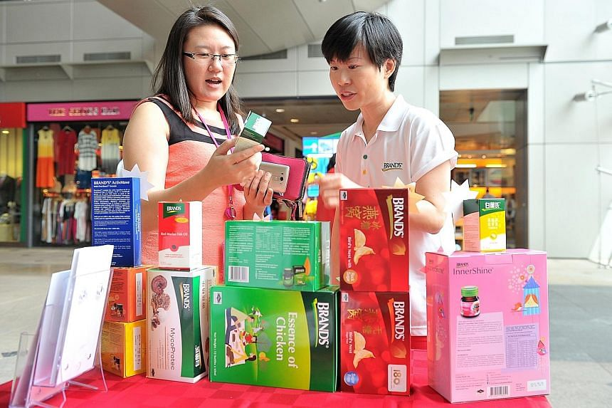 Health supplements company Cerebos Pacific launched its annual Brand's Charity Sales yesterday. The firm aims to raise $30,000 over two days, with all proceeds going to The Straits Times School Pocket Money Fund. This is the 14th year that Cerebos Pa