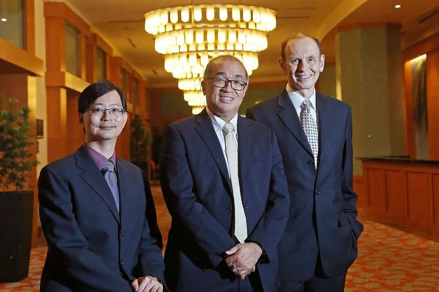 Mr Tan Gee Paw's team took steps to close down the night soil collection service. President's Science Award recipients (from left) Patrick Tan, Teh Bin Tean and Steven Rozen were recognised for their work in Asian cancer genomics. Their research has