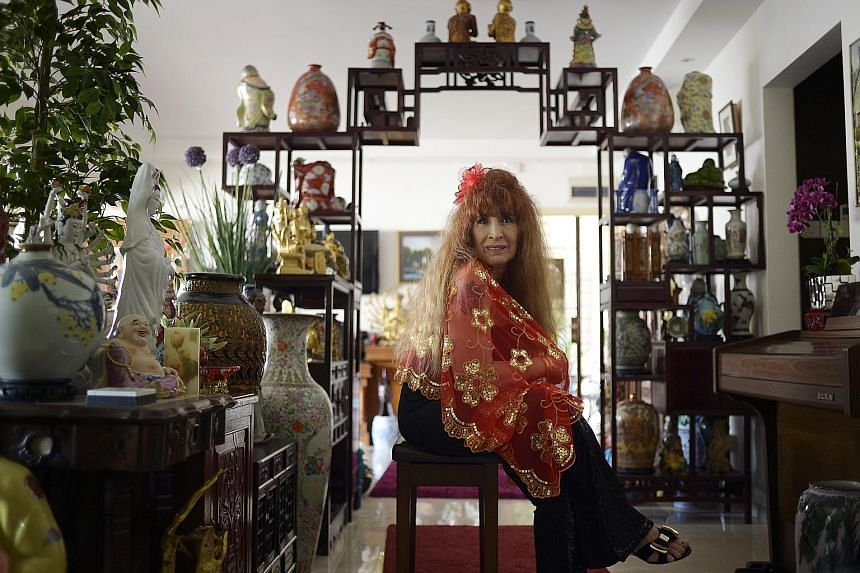 Madam Loretta Sarkies, 74, lives in an HDB flat in Pasir Ris, surrounded by family mementos and antiques left by her grandmother. Her father ran the Happy World Cabaret here in the 1940s, and her grand-uncle Tigran Sarkies founded Raffles Hotel with