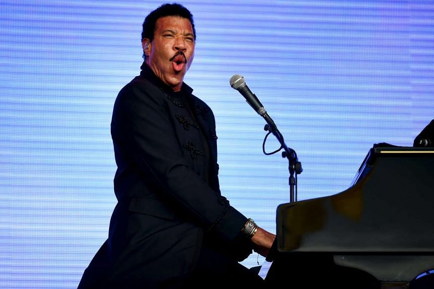 Lionel Richie performing at Britain's Glastonbury Festival in June 2015.