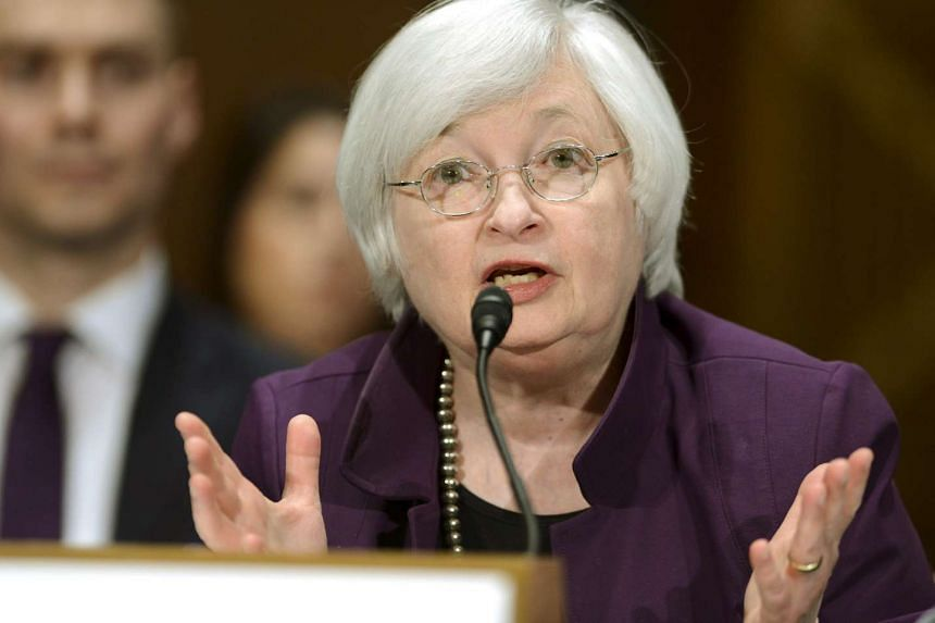 U.S. Federal Reserve Board Chair Janet Yellen delivers her semi-annual report before the Senate Banking and Urban Affairs Committee in this July 16, 2015 file photo.