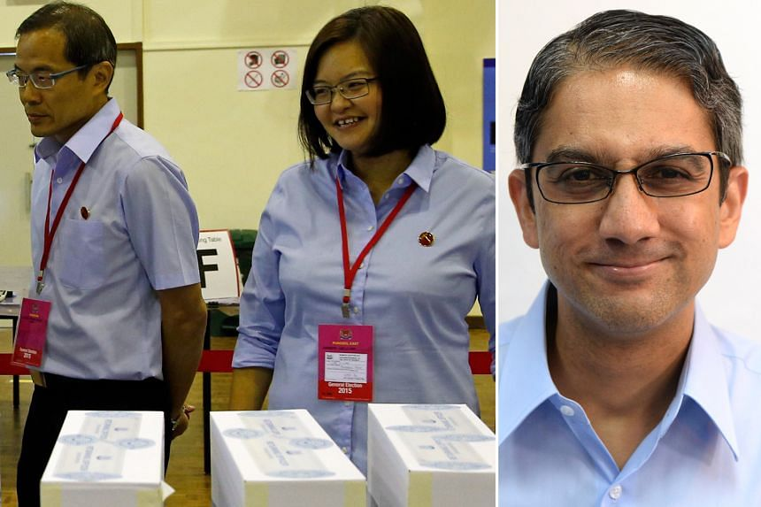 The Workers' Party's (from left) Mr Dennis Tan, Ms Lee Li Lian and Mr Leon Perera have been declared NCMPs, but Ms Lee will not take up the offer.