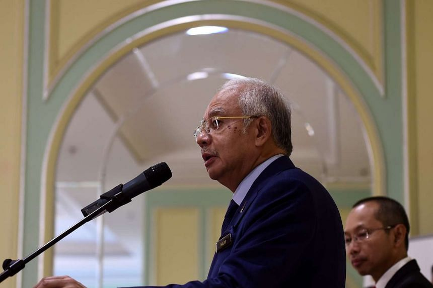 Malaysia's Prime Minister Najib Razak addressing the media on Sept 14, 2015.