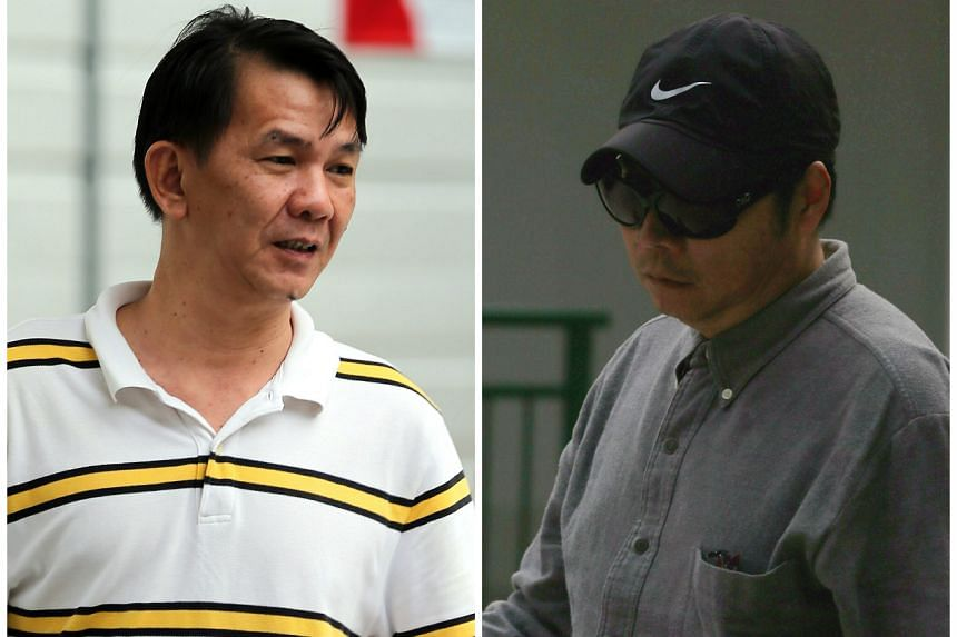 Patrick Yeo Teck Gin (left) and Chow Pak Chow (right) were both fined and ordered to pay a penalty on Friday for corruption.