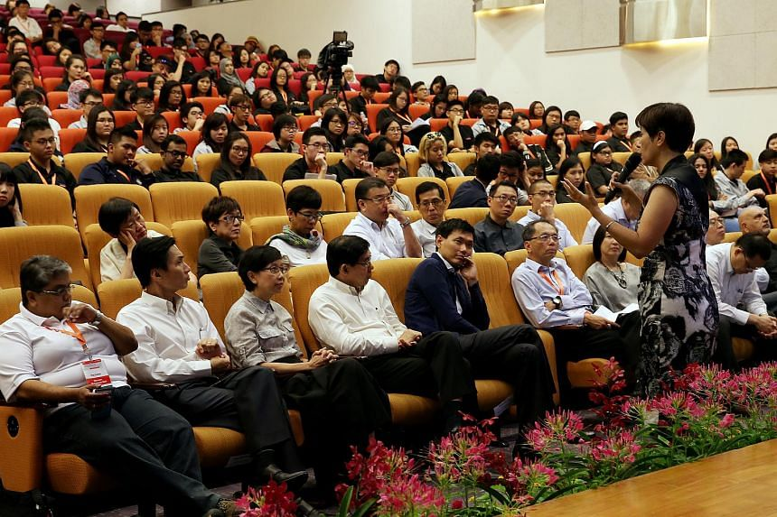 Ms Indranee Rajah at the annual Polytechnic Forum on Sept 18, 2015.
