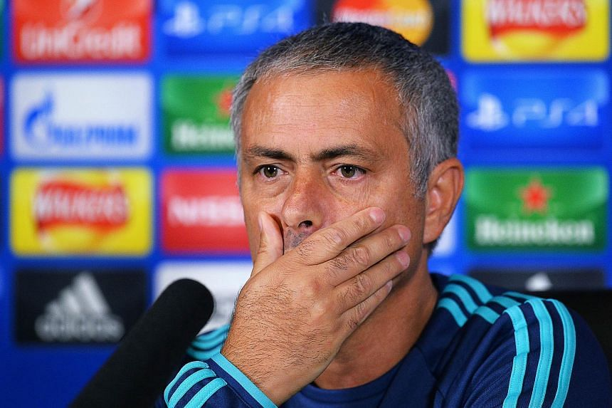 Chelsea manager Jose Mourinho during a press conference on Sept 15, 2015.