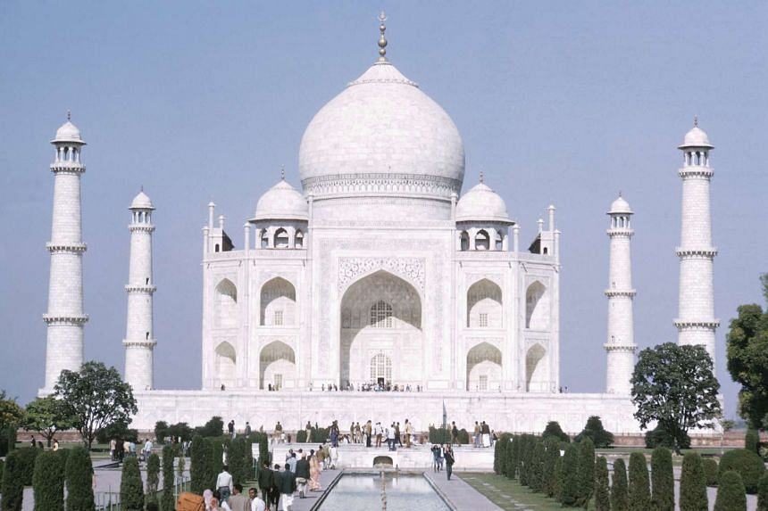 The 66-year-old tourist collapsed just after climbing up the stairs at the white marble tomb.