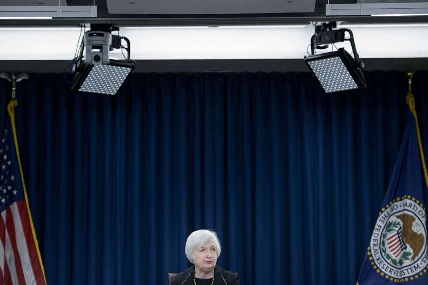 Federal Reserve Chair Janet Yellen speaking at the Federal Reserve's Wilson Conference Center on Sept 17, 2015.