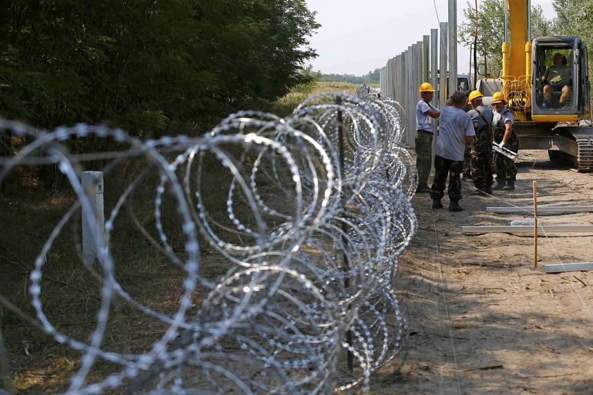 Hungary's government constructed a 175 kilometre-long fence on the border in order to halt a massive flow of migrants who enter the EU via Hungary and head to western Europe.