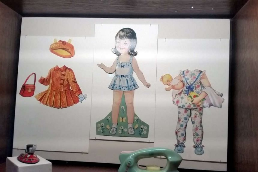 These old paper dolls are among the items on exhibit at the exhibition titied 'The Life in Singapore: The Past 100 Years' at the National Museum of Singapore.