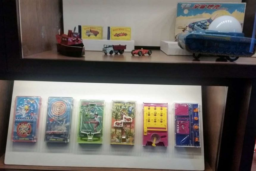 These old toys are among the items on exhibit at the exhibition titied 'The Life in Singapore: The Past 100 Years' at the National Museum of Singapore.