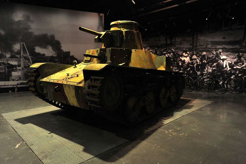 Replica Type 95 Ha Go Japanese Tank is on display at the Singapore History Gallery, National Museum of Singapore.