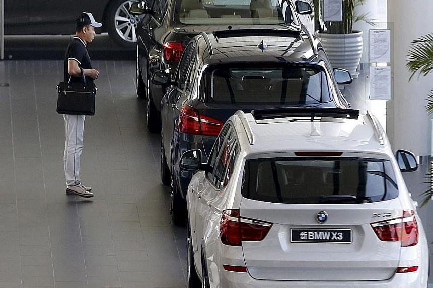 The demand for luxury cars in China is dropping due to the slowing Chinese economy.