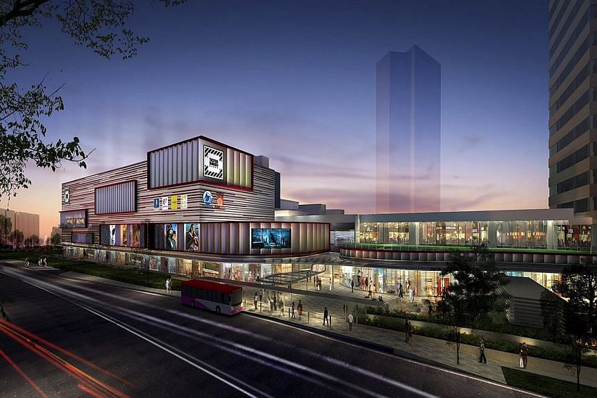 An artist's impression of Tiong Bahru Plaza after the facelift. After its makeover, the mall will have new communal spaces for people to mingle, including an open terrace on the fourth level, among other things.