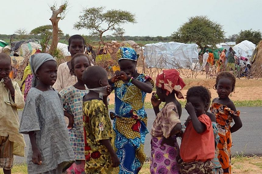 Children in a refugee camp set up by the UN three months ago for Nigerian refugees fleeing to south-east Niger to escape Boko Haram. Nearly 1.2 million children have been displaced in Nigeria alone.