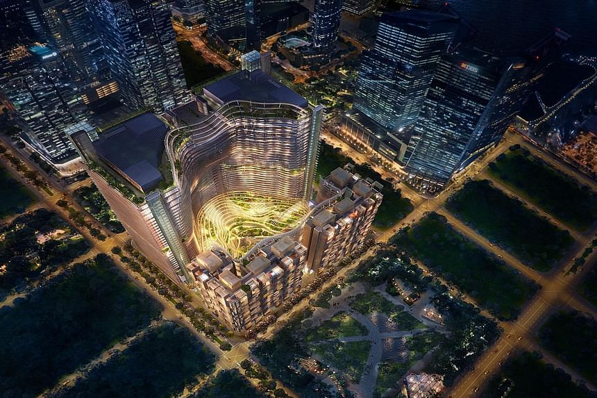 An artist's impression of the upcoming Marina One mixed development. Its developer, M+S, expects to get its Temporary Occupation Permit in 2017.
