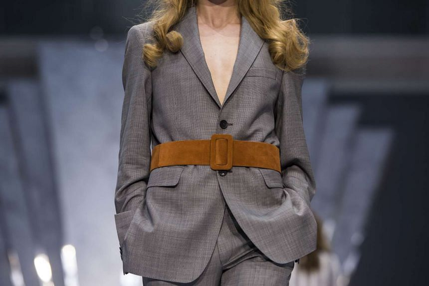 A model presents a creation from the Daks collection.