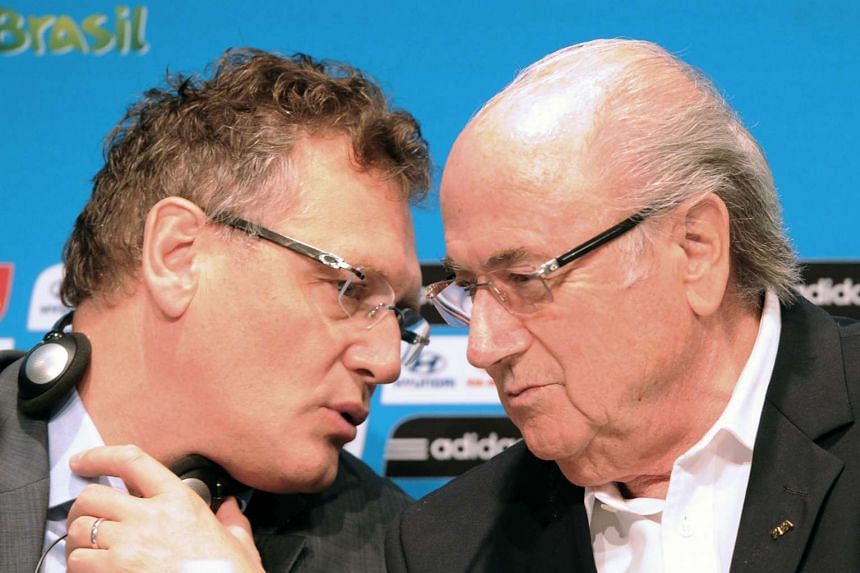 Valcke (left) with Fifa president Sepp Blatter in a 2014 file photo.