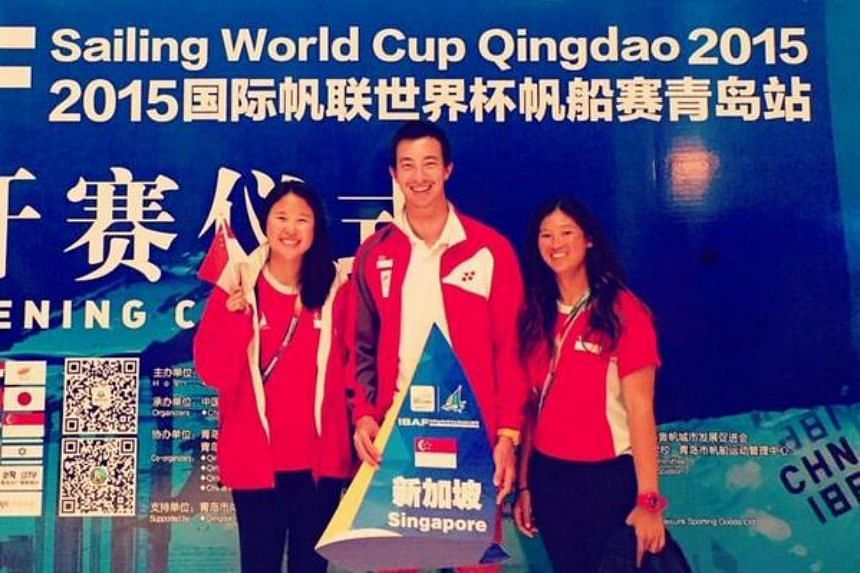 Singapore sailors Lee Shu Xian (left) and Priscilla Low have earned Singapore a berth in the women's 470 event at the 2016 Rio Olympics.