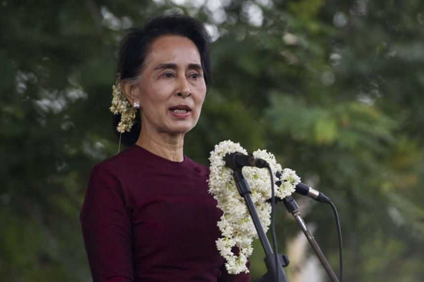 Ms Aung San Suu Kyi has come under pressure to speak out for minority rights in Myanmar.