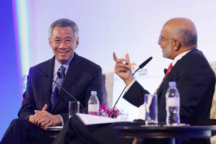 Dialogue with Prime Minister Lee Hsien Loong at the Sands Expo and Convention Centre Marina Bay Sands.