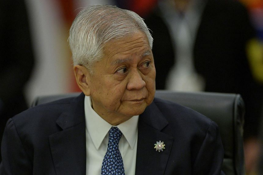 Philippine's Foreign Secretary Albert del Rosario attends the 48th Association of Southeast Asian Nations (ASEAN) Australia Ministerial Meeting at the Putra World Trade Centre in Kuala Lumpur on Aug 5, 2015.