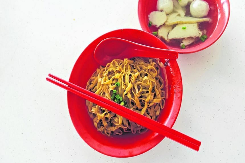 The Thye Hong fishball noodles in Bukit Batok have a mild flavour and there is no MSG in the soup.