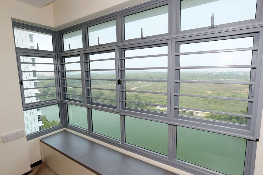 The interior of a flat at Hougang Capeview, which has achieved the highest possible accolade for construction workmanship quality.