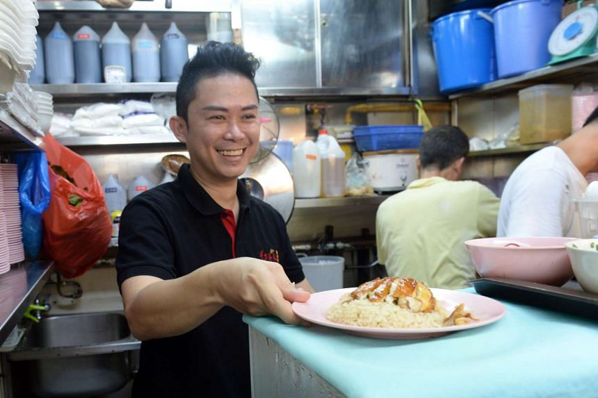 Stall owner Joey Yong, 42, uses a chicken rice recipe that he learnt about 20 years ago before setting up his first chicken rice stall in Chong Pang in 2012.