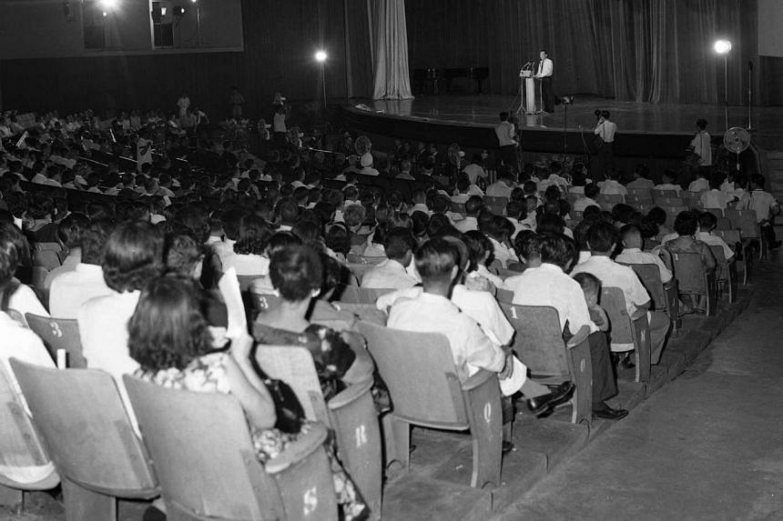 Prime Minister Lee Kuan Yew at the National Day Rally in 1966, when he talked about an integrated society with common values, common attitudes, a common outlook, a common language and a common culture.