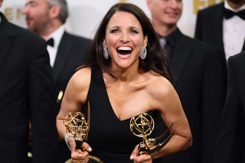Actress Julia Louis-Dreyfus, won the Emmy awards for Outstanding Lead Actress in a Comedy Series for Veep and Outstanding Comedy Series for Veep.
