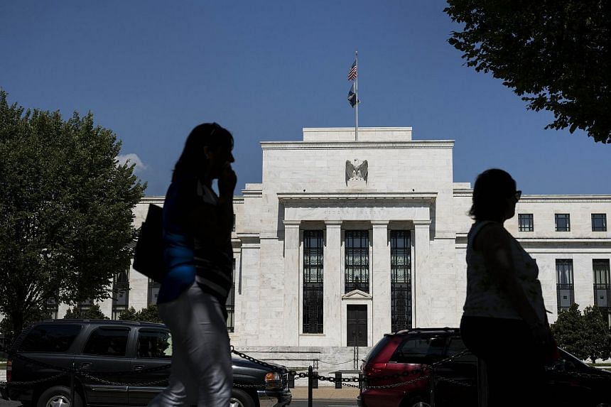 A view of the Federal Reserve building in Washington, DC on Sept 17, 2015.