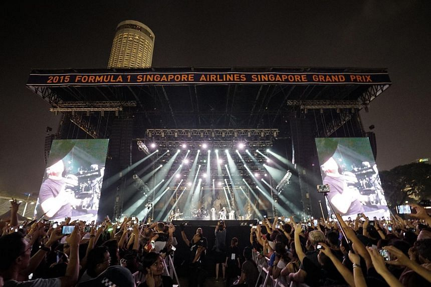Bon Jovi played to a crowd of 55,000 at the Padang on Sept 20, 2015.