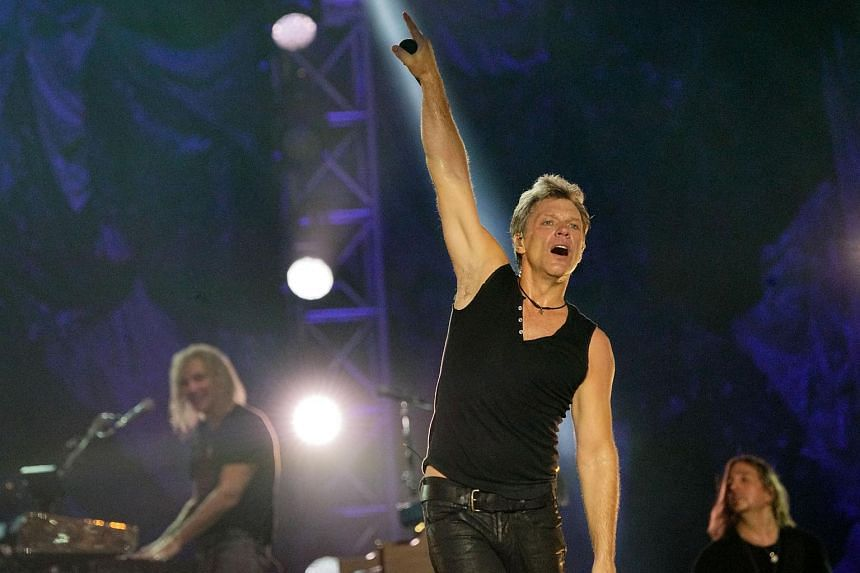 Bon Jovi performing at the Padang on Sept 20, 2015.
